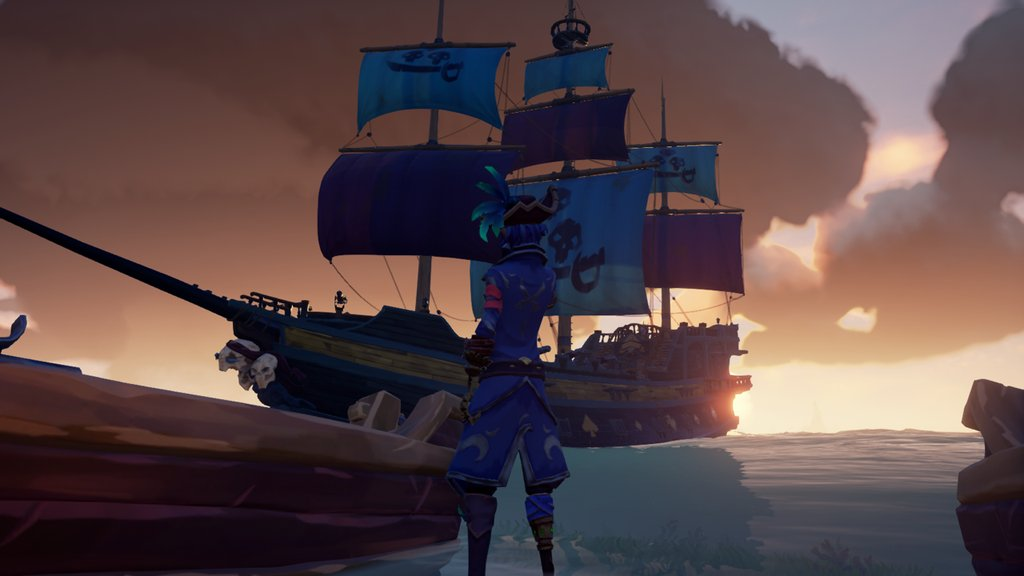"""Me and my ship, The Mystical Spade"" posted by u/DarkBlue756 in r/SeaOfFashion  #SeaOfFashion #BeMorePirate #SoTShot #SeaOfThieves"