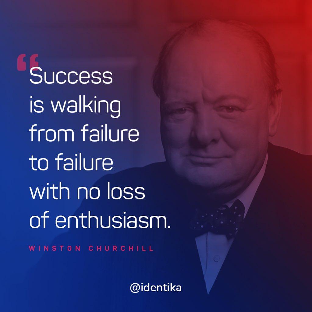 Churchill said it best!  #successlife #successsecrets #successquote #successfulpeople #successminded #successfulquotes #motivationquotes #businessminded #mindsetofgreatness #winstonchurchill #churchill #perserverance #failureisnotanoption #failure #lovefailurequotespic.twitter.com/gvrWfRDgga – at Identika