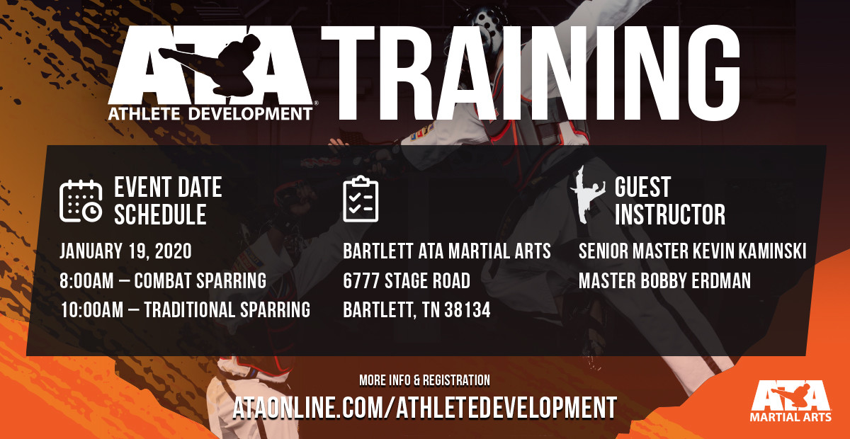Our Athlete Development training seminars will help you enhance your skills in traditional sparring and combat weapons sparring! Register here >  http:// bit.ly/2Q9lYSx      for the seminar on January 19th in Bartlett, TN.  #ATAMartialArts #AthleteDevelopment #Training #Seminar<br>http://pic.twitter.com/CQrz0iZCMp
