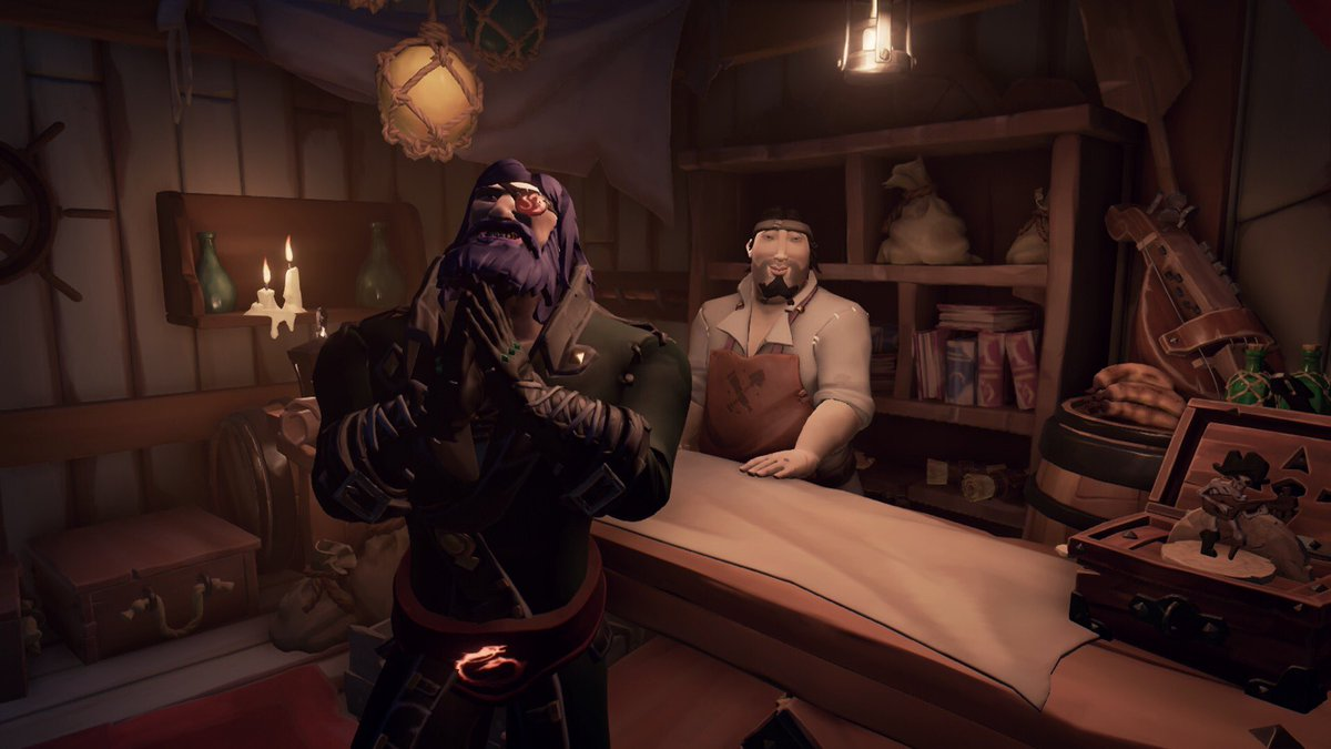 Did you know @ChrisMarlow666 voices an npc vendor at golden sands outpost! 😱 now you do! #SeaOfThieves #BeMorePirate #SoTShot @SeaOfThieves @RareLtd