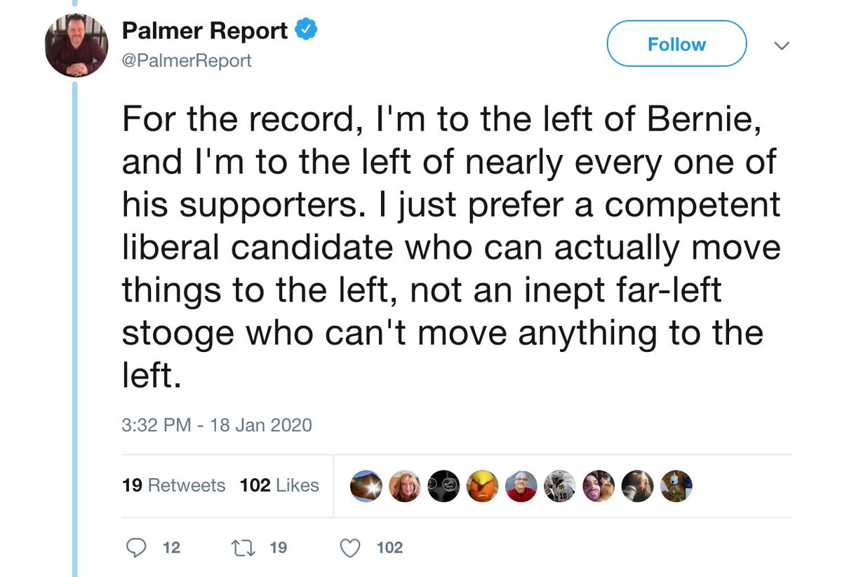 """for the record, i am to the left of bernie...which is why i will now proceed to call him """"far left"""" in order to attack him <br>http://pic.twitter.com/1LZVx4S5TY"""