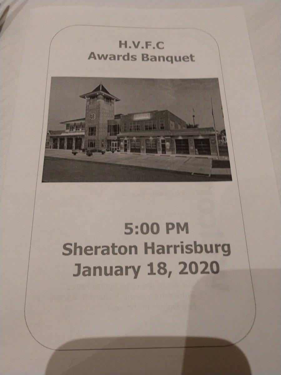 Attending @HersheyFire Awards Banquet tonight. Thank you for all you do! @DauphinCounty @HersheyPA
