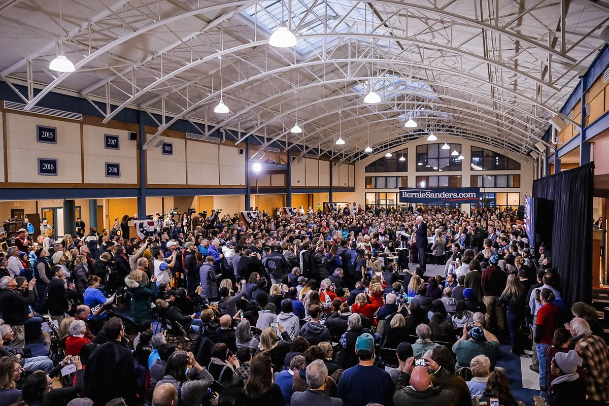 Wow! Thank you Exeter for coming out on a cold day to be a part of this movement. We can win the New Hampshire primary but I need your help. Get on the phones, knock doors, do whatever you can. Sign up at berniesanders.com/volunteer.