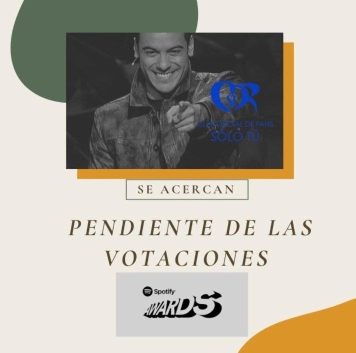 SpotifyMexico a @ClubSoloTu le gustaría ver a #CarlosRivera en los #SpotifyAwards 🙌🏽👏🏽🎤 @ClubSoloTu_USA @ClubSoloTu_Gdl @WestWoodEntt @westwoodfans @mikenoriega @jjuarezww #FelizMartes #CarlosRivera #Riveristas #SpotifyAwardsCarlosRivera