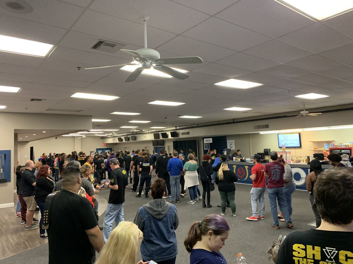 Meet & Greet with NXT Stars is in full swing at #EVOLVE144. Tons of stars including the Undisputed Era & Rhea Ripley with their championship gold. Don't miss your chance to meet the stars of NXT when we come to NY, Boston, Detroit, & Chicago! Details: http://wwnlive.com