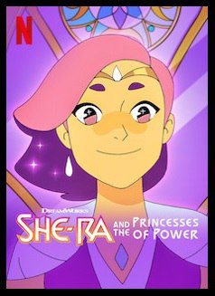 So... Scrolling thru Netflix, and I see She-Ra, I totally confused the white shoulders as some sort of chair or something. All I could think of was... NECC