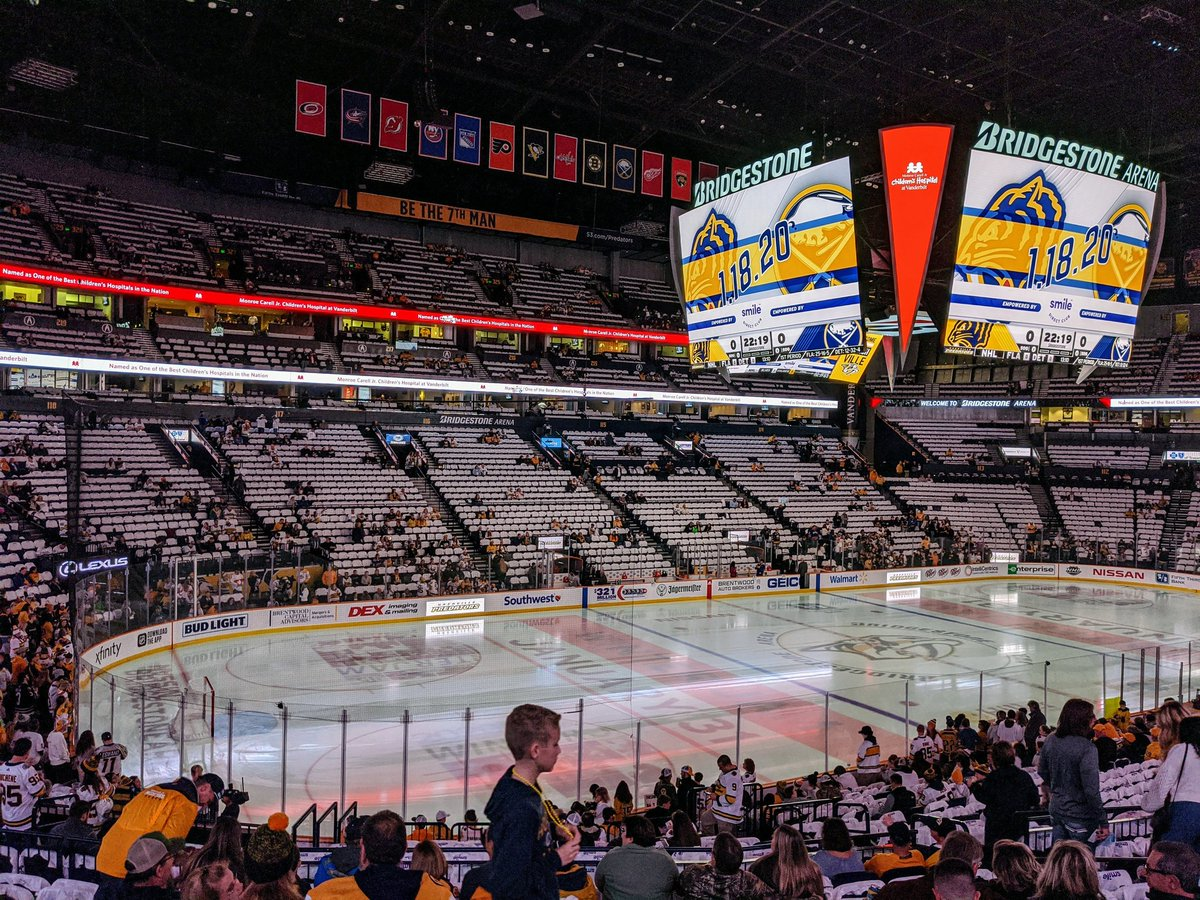 It's e #WinterClassic #WhiteOut tonight in #Smashville!   I have faith and confidence that we can pull this season out of the ditch, let's start tonight! #Preds    One of our favorite peeps Josie and her man Reed are joining us tonight.... #LetsGoPreds!!   #Pixel4XL #teampixel<br>http://pic.twitter.com/xj0a9cqp2T – à Bridgestone Arena