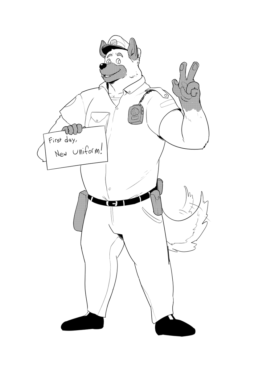 a commission for anonymous, who likes the thought of a guy in uniform having to find bigger uniforms cause he can't stop eating them donuts  thanks! <br>http://pic.twitter.com/8prlS9lF3e