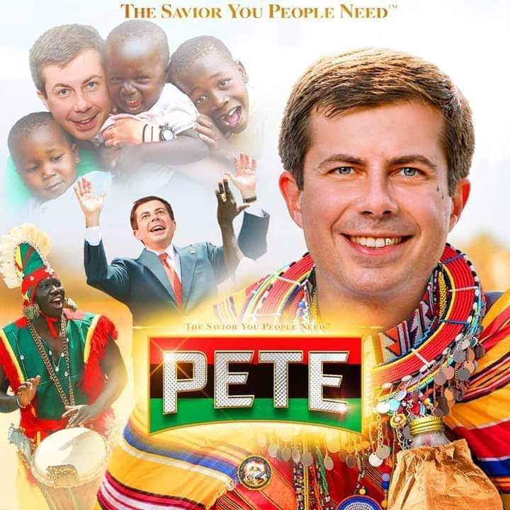 LOL Mayor Pete finally outreaching to communities of color! #WineCavePete