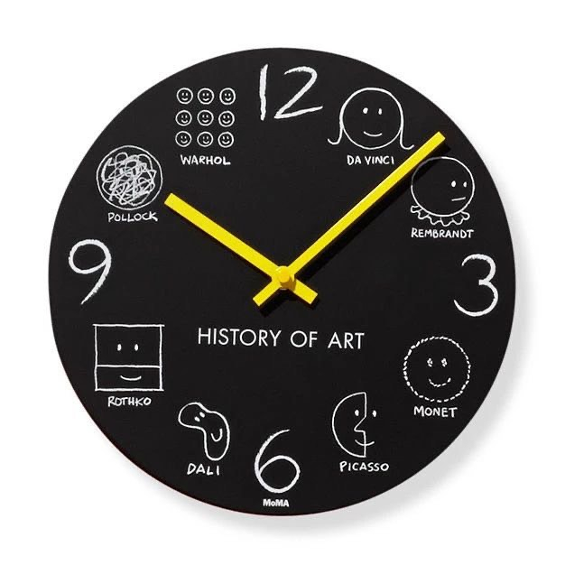Rate this product from 10-1?. History of Art Wall Clock by Donald Seitz  Visit: http://www.mesmerized.it  #homeinterior #homedecoration #furnituredesignerpic.twitter.com/99Z9zplHpU
