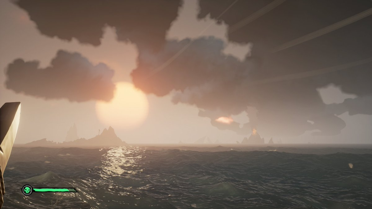 Some things from playing d so far today. Had three completely full ammo cratesv while enjoying the views @SeaOfThieves has to offer; while making that push for Pirate Legend! #SeaOfThieves #sotshot #BeMorePirate