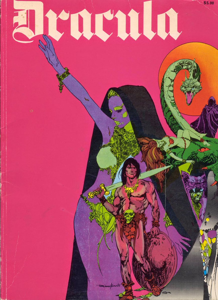 Esteban Maroto covers for Dracula, an anthology series of his from the late 60s<br>http://pic.twitter.com/PEbJe2bMEn
