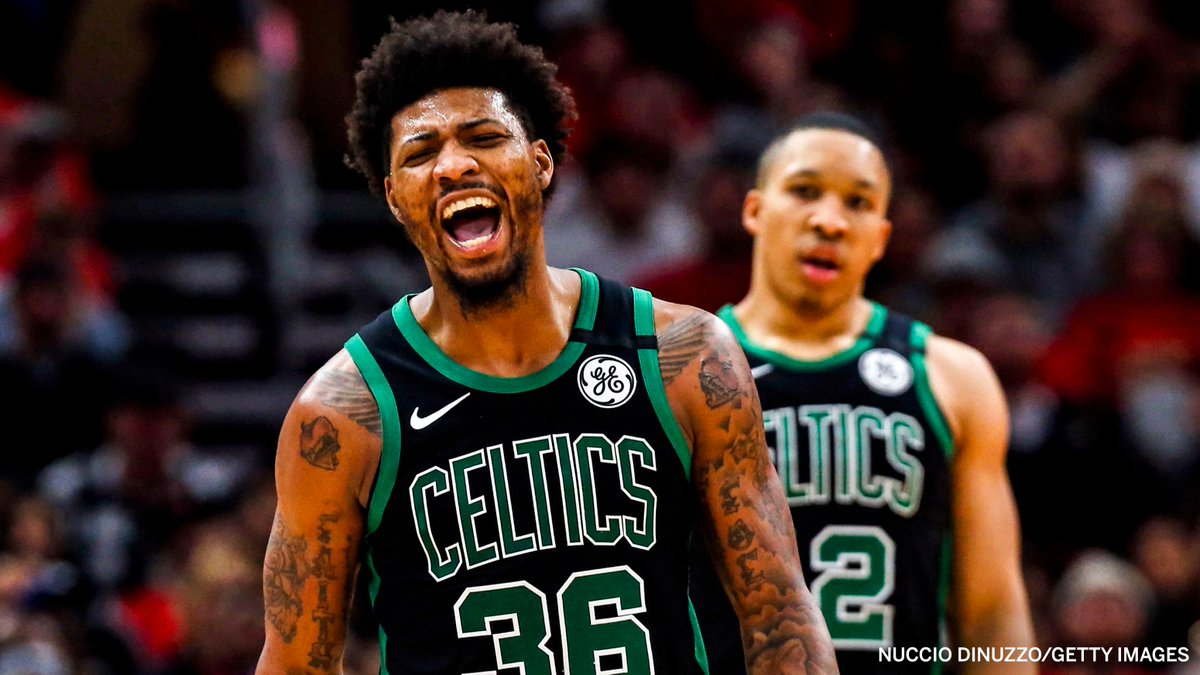 The Celtics' all-time leader in made 3-pointers in a single game with 11:  Marcus Smart 👌☘️