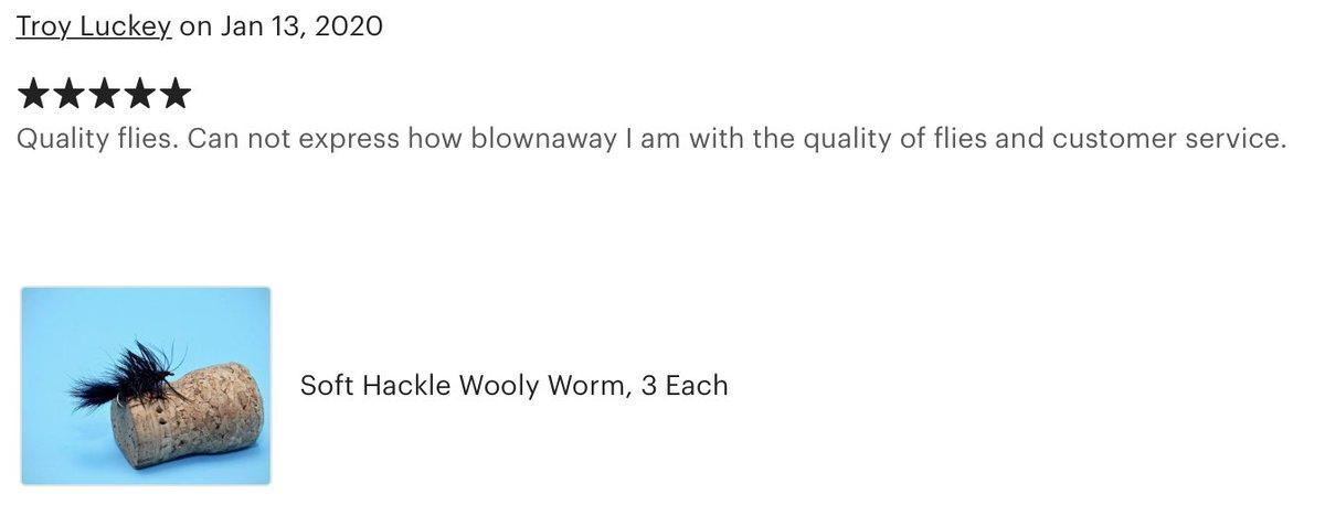 Thank you Troy, happy customers are so important! #bespokeflies #flytying #flyfishing #flyfishingaddict #troutbum #catchandrelease #naturespiritflytying #dynakingvise #hedronflashabou  #wisconsinflyfishing #saltwateronthefly #harelinedubbin #daiichihooks #smallmouthfliespic.twitter.com/WrjuAyWHHB