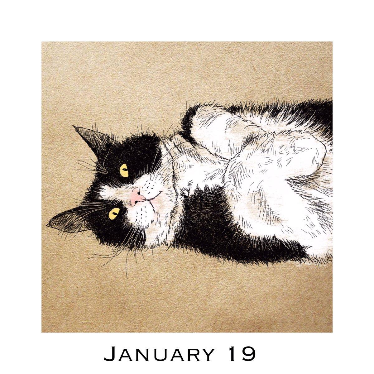 猫好きイラストレーター 365cat Art Twitterren 1月19日 ごろにゃん 猫カレンダー Catcalendar 365catart Catscalendar 猫好きさんと繋がりたい 猫 ねこ Cat Cats Catart 猫の絵 おしゃれ猫イラスト 猫イラスト 猫フリーイラスト もサイトで配付中