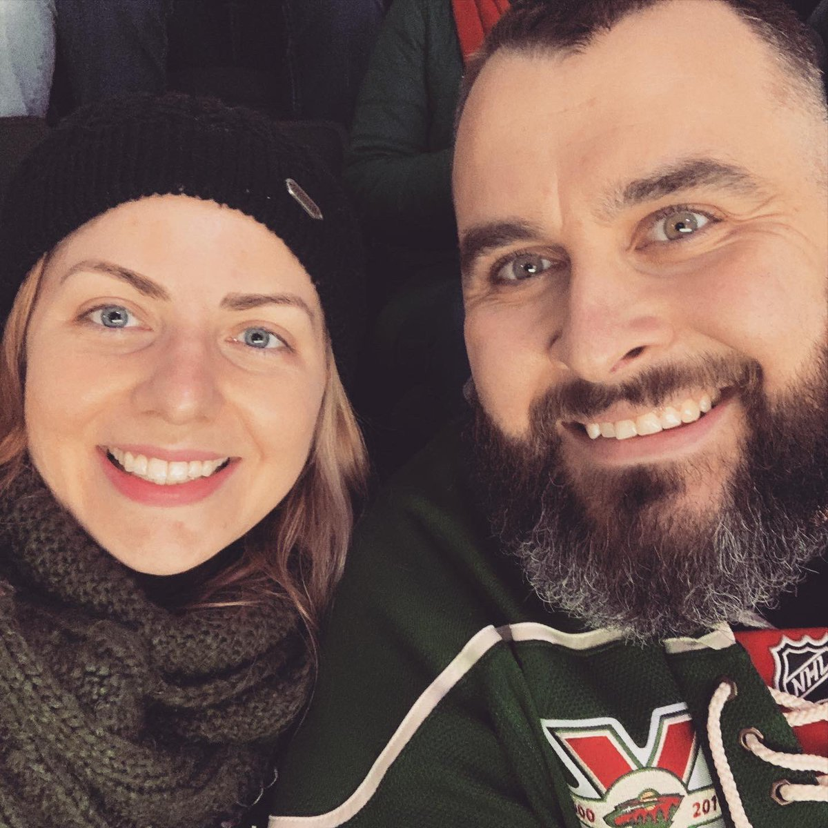 Made it up to a @mnwild game!