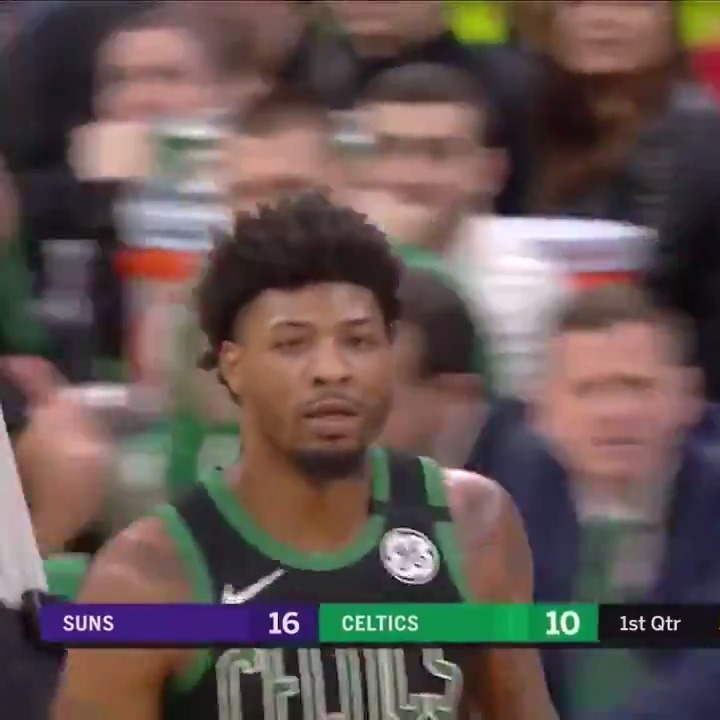 Marcus Smart (39 PTS, 11 3PM & 8 AST) stepped up BIG 💪   @smart_MS3 is now the #Celtics all-time leader in made 3-pointers in a single game.
