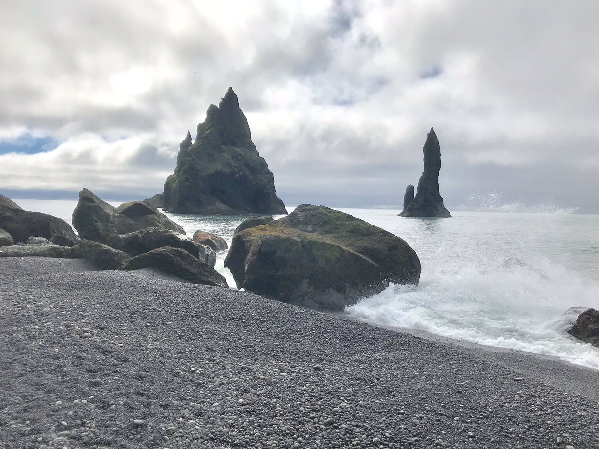 #LoveonIceland my husband and I visited Iceland and saw the black sand beach/ awesome!!
