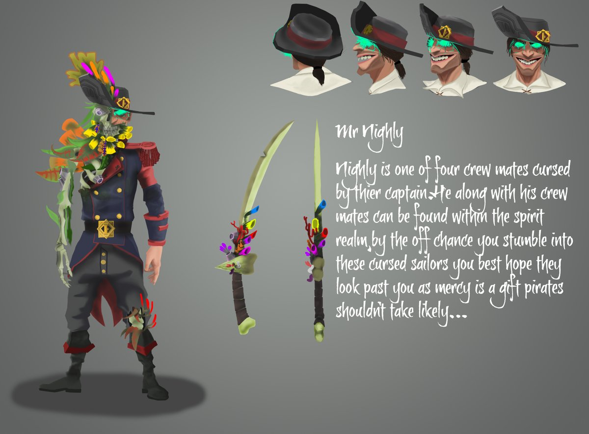 @Plecotuz @SeaOfThieves @RareLtd @Captain_Falcore Meet Mr Nighly, he is apart of the Masked captain I showed off the other week... Hope you like it P.S. Thank you JOEBOB Graphics for the SOT Font. (I also put the Capt. if you didnt know what i was talking about)