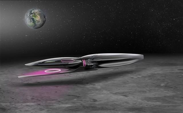 【SF感】レクサスが「月の乗り物」をデザイン、時速500キロのリニア式バイクなどリニアのようなコンセプトの名称は「Zero Gravity」。計7種のコンセプトが公開された。