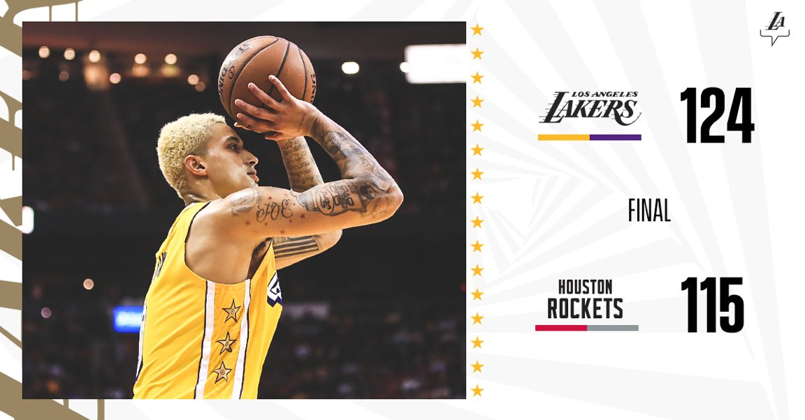 Welcome to the second half of the regular season. #LakersWin