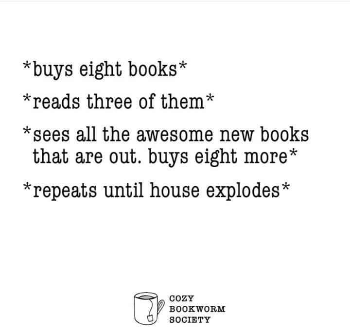 Or head explodes...  Or bankruptcy kicks in...  It's not gonna end well, we all know it.   But it *feels* so GOOOOD!  #booklovers #booklove #reading #bookaddict #reader #readers #books #bookaholic #bookish #booknerd #bookworm #bookworms #book #readingforpleasure #readingcommunitypic.twitter.com/3AUQhlwZLM