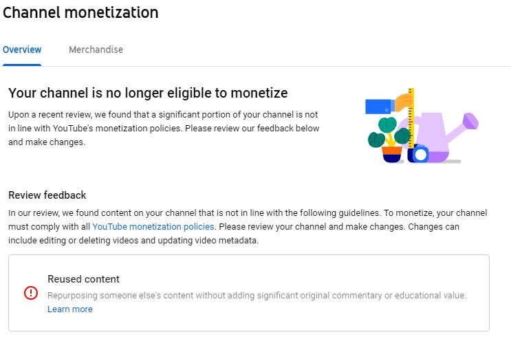 *deep inhale...deep exhale* So...I recently noticed that my YouTube monetization line had gone flat. Figured it was a glitch they'd correct in a few days, thought nothing of it. Tonight, I was going in to place some midroll ad breaks... And the channel is demonetized...again. <br>http://pic.twitter.com/v9CkibHT9j