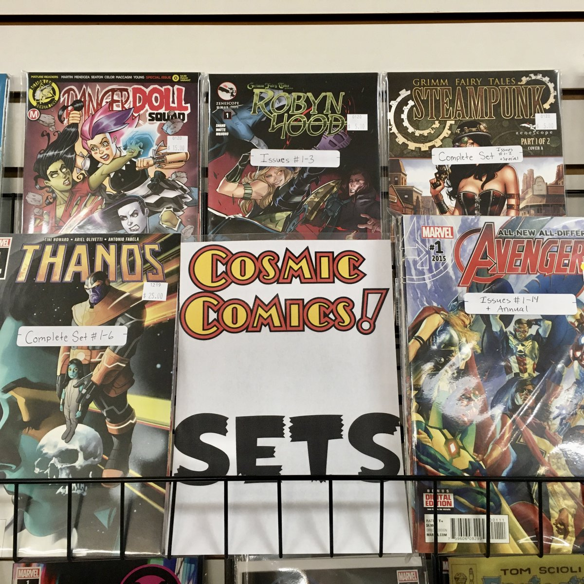 New Comic Sets are being added daily. Awesome stories at a budget friendly price.  #Sets are located on the #CosmicBackWall and on the #BackIssues table. ... #ComicSets #Marvel #DC #Indy #igcomicfamily #getyourfixpic.twitter.com/n8eRO9jisN