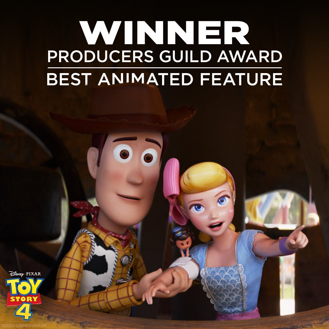 Congratulations to the producers of Toy Story 4 for winning the PGA Award for Outstanding Producer of an Animated Feature. https://t.co/KgxjPde1DA