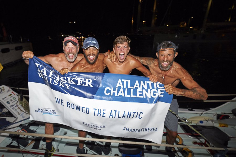 📣 Force Atlantic have arrived in Antigua 👏👏👏👏 completing #TWAC2019  in 37 days, 13 hours, 53 minutes.  Lt.Col Richard Hall, Captain Chris Hames, Private Kian Helm and Captain Alex Walsh.  Pte Kian Helm, at 18, is the youngest person to row the Atlantic as part of a team.