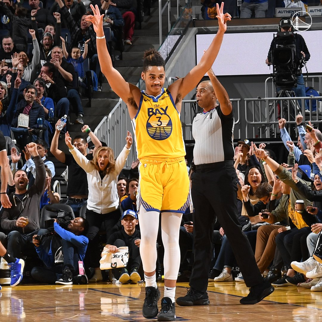 Jordan Poole (21 points) & Eric Paschall (20 points) are the first Warriors rookie duo to score 20 points in the same game since Stephen Curry (25 points) & Reggie Williams (20 points) did so on April 11, 2010 vs. Oklahoma City.