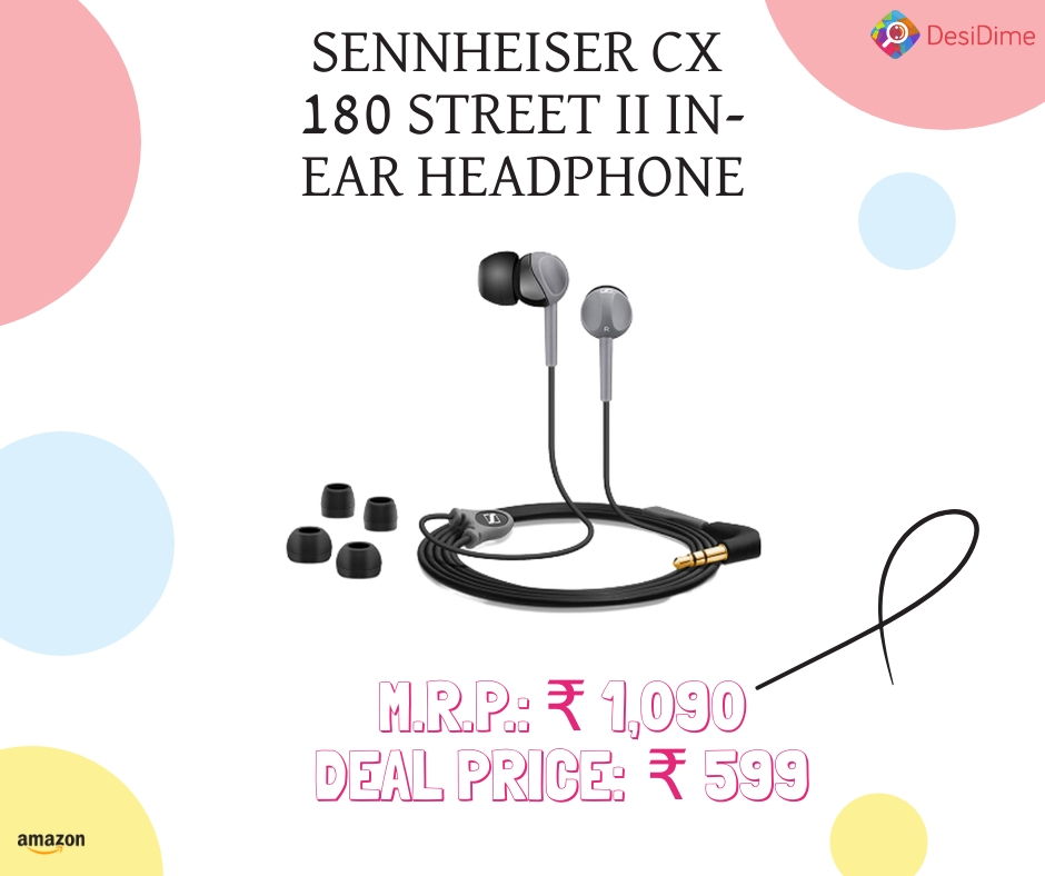 Sennheiser CX 180 Street II In-Ear Headphone (Black) just for Rs.599 on @amazonIN   #Shop here:   #discounts #sale #deals #offers #shopping #savings #earphones #amazonsale #AmazonGreatIndianSale #Amazon #onlineshop #shoponline #sundayvibes #onlineshopping