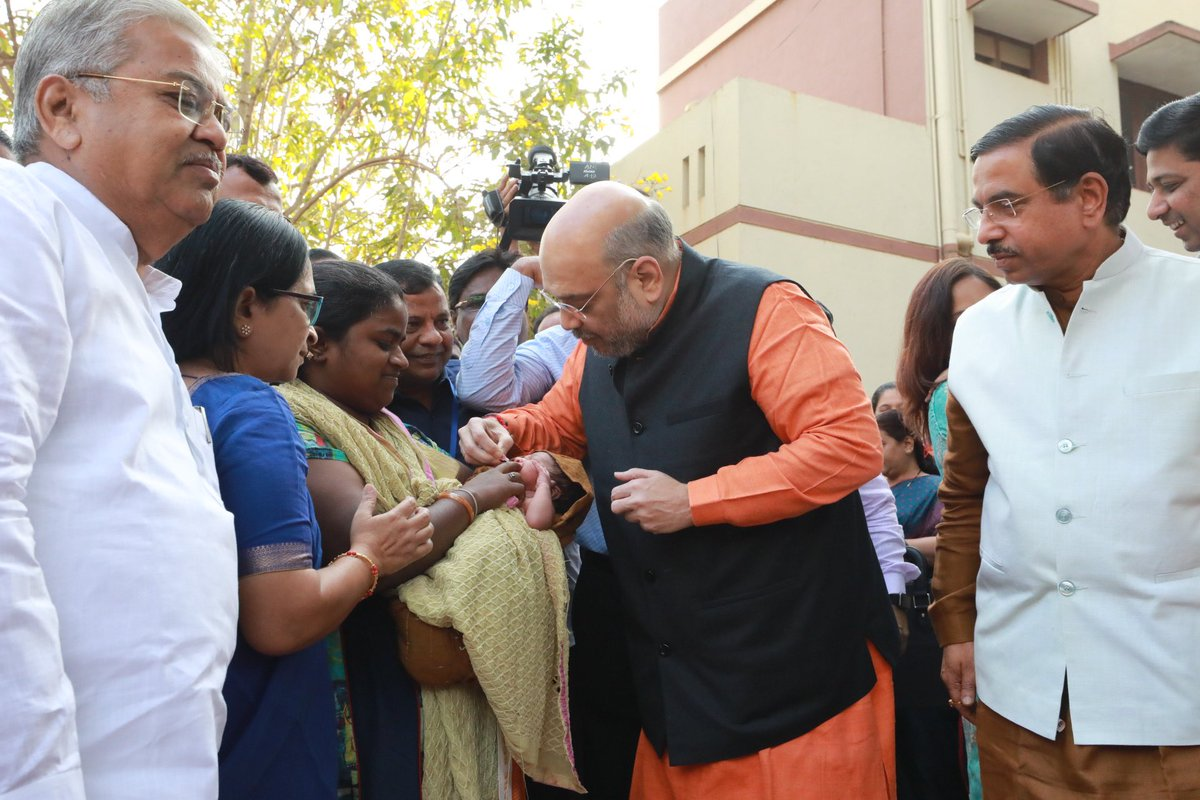 On Pulse Polio Day 2020, gave vaccine to children in Hubli, Karnataka.Modi government is committed towards a healthy and bright future of every child.I urge all parents to not compromise with their child's health and ensure their vaccination on time.