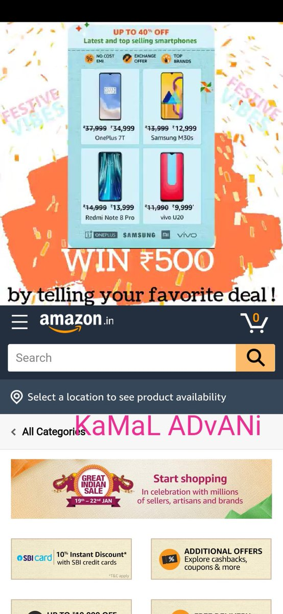 @BrochureLive HeRe Is My FaVoURiTe DeaL In #AmazonGreatIndianSale  DeaR TeaM @BrochureLive  #ContestAlert #ContestAlertIndia #ContestIndia #Deals #India #Offers #cashback @Ramprasad43  @itsme_rooh  @ramyavellanki  @Racer_Veb  @Aaravsingh28  @FiveFoot5  @chilled_Sup  @piyushpuri12  @nikp_05