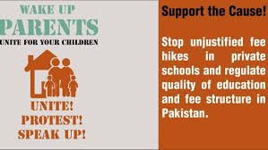 Stop unjustified fee hikes in private schools and regulate quality of education and fee structure in Pakistan #ImplementFeeControl<br>http://pic.twitter.com/a4BBsZQLed