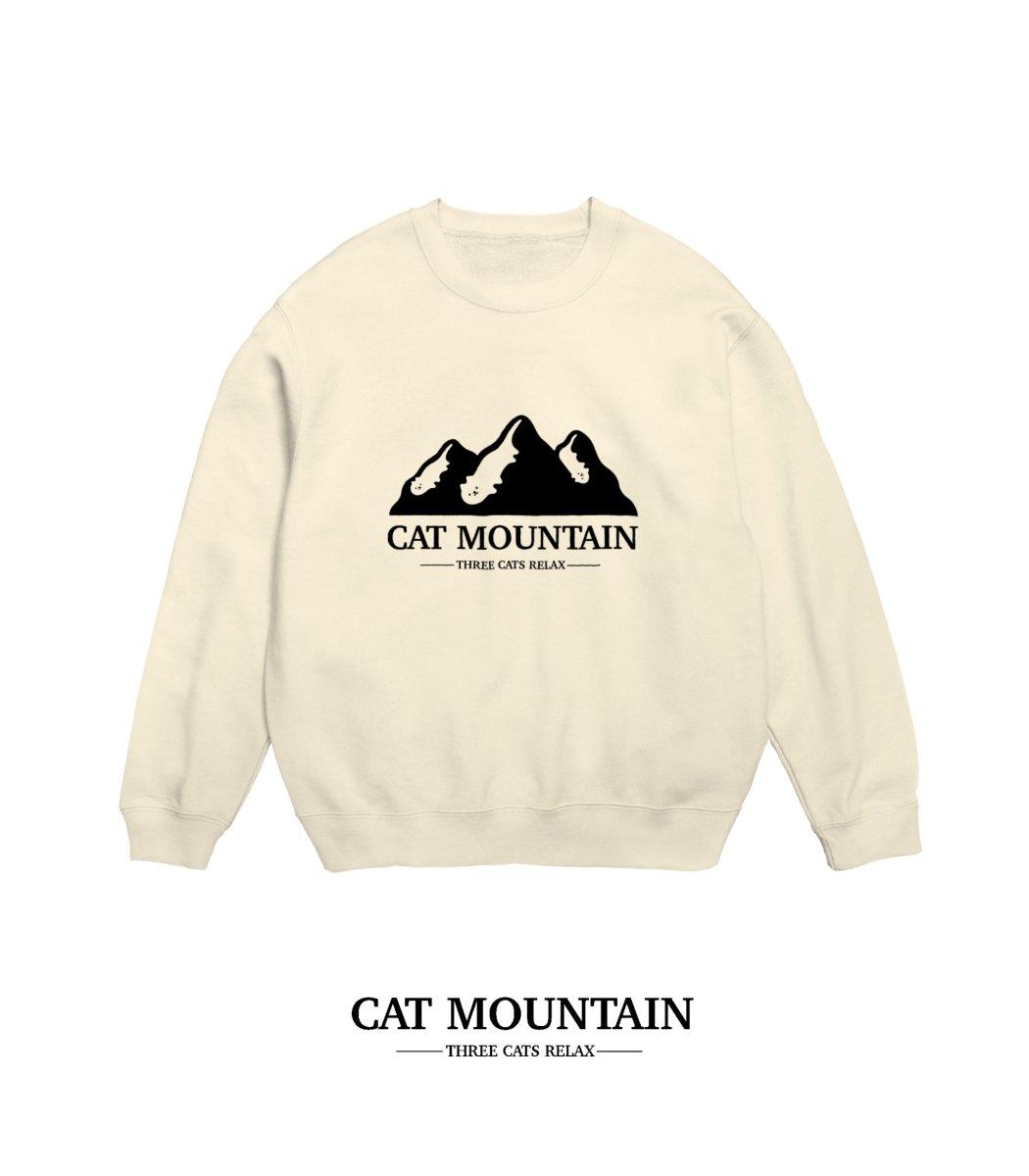 山脈とみせかけて寝ころぶネコのロゴです🐈