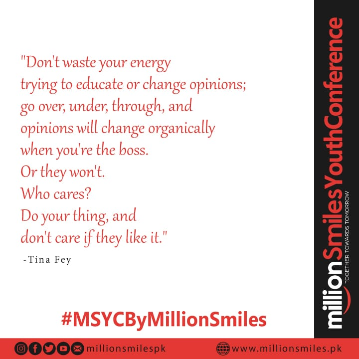The time is now, our future is in our hands. Let us arise and work together, towards our future and for better Pakistan. Together we can make Pakistan proud. Let's make MSYC a Great Success.  #MSYCByMillionSmiles<br>http://pic.twitter.com/Xtak68JHiW