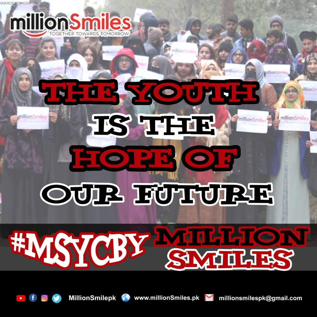 Are you ready to join the journey of smiles for youth across Pakistan? Are you the one to make a difference ? Let's together spread a million more smiles for all MillionSmiles  #MSYCByMillionSmiles<br>http://pic.twitter.com/zT5fcCv9Wz