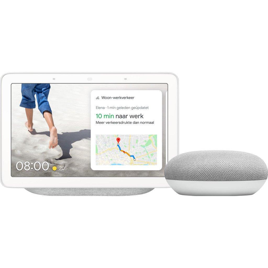 Google Nest Hub Chalk + Google Nest Mini Wit  Aanbieding van Coolblue  NU GEEN €187.99MAAR SLECHTS €129.00!    Pak JOUW voordeel #aanbieding #ikwildagaanbiedingen #bestdeal #dagaanbieding #deal #deals #dagactie #Coolblue