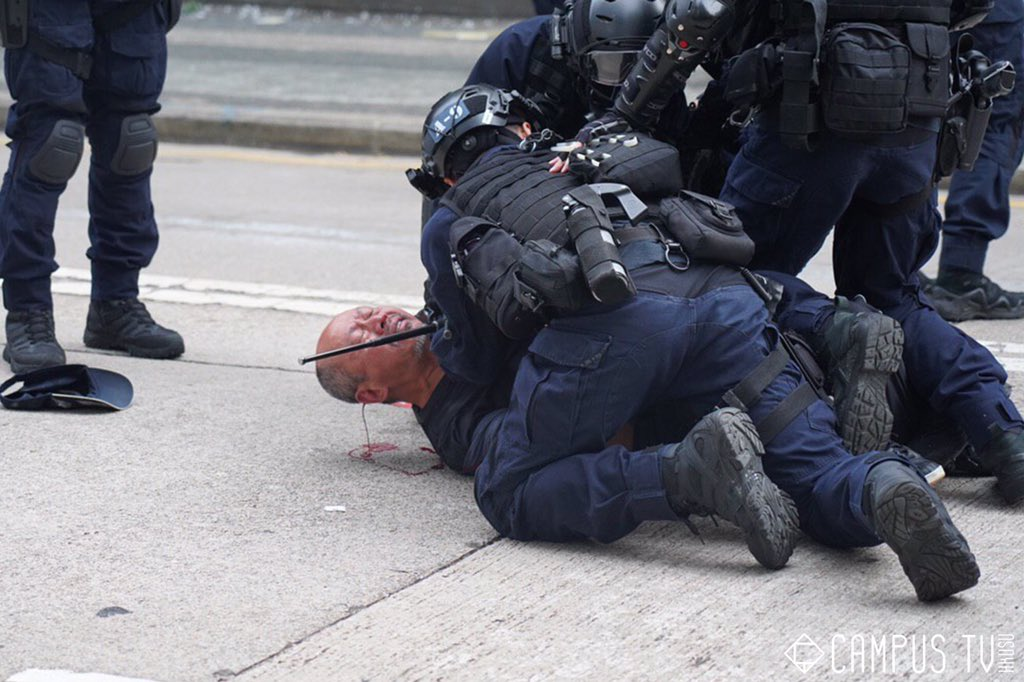 A few days before #ChineseNewYear2020, an old man was smashed to the ground by #hkpolice, with blood spilling out from his head. #PoliceBrutality #PoliceStatehk<br>http://pic.twitter.com/CMjlfMQYNn