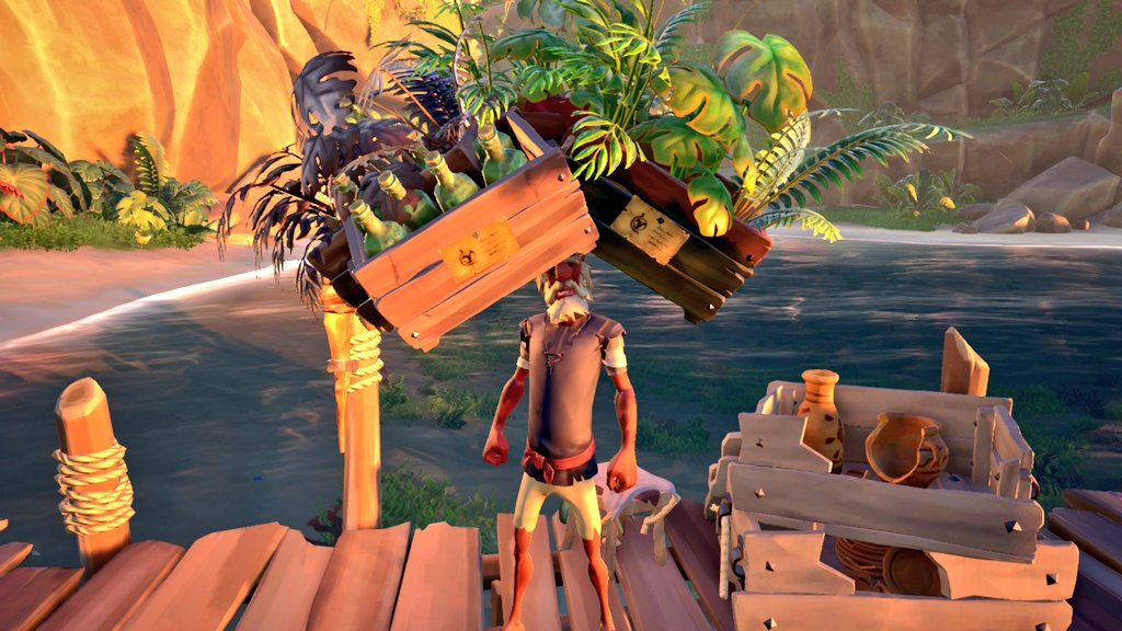 I gave wild Henry a lovely new hat as a gift. He seems to love it!  #SeaOfThieves #sotshot