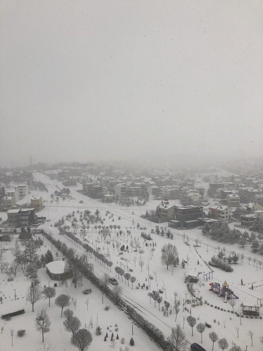 #ElClasico  in Ankara - Snowy Sunday... #SundayMorning