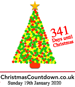 19th January 2020, 341 days to go! For all the latest #Christmas news, planning tips and #competitions see http://christmascountdown.co.uk