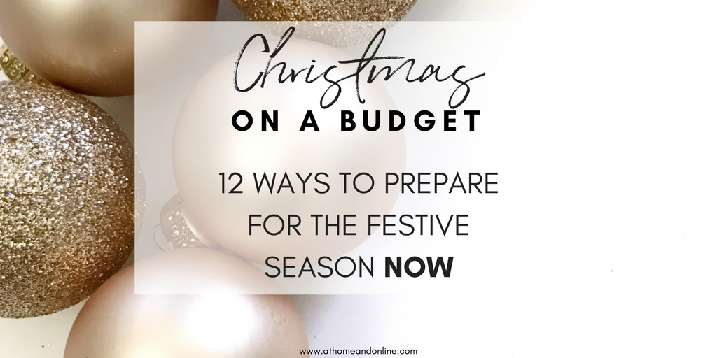 12 ways to prepare for Christmas now, so you can breeze through the festive season financially unscathed http://dld.bz/gGDbG #christmas #ukmoneyblogger #moneyblogger