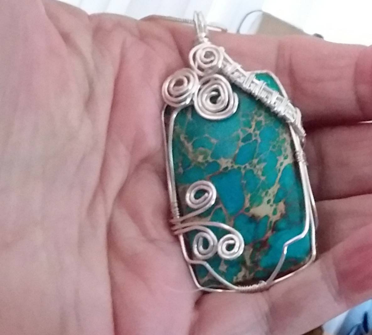 Turquoise Pendant with 18 inch chain. http://tuppu.net/95a033fb #FallHolidaze #Etsy #Christmas