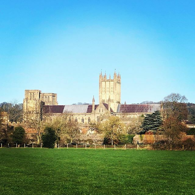 Gorgeous morning in the countryside ☀️#wells #somerset #winter #bluesky #sun