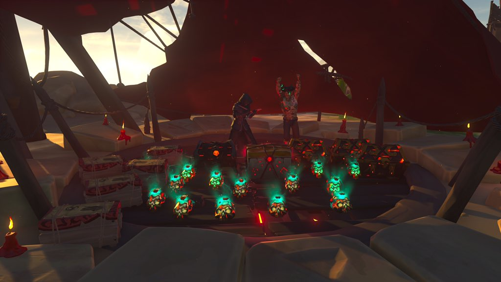 Reaping the rewards of the seas! #seaofthieves #sotshot @TicketedEarth9