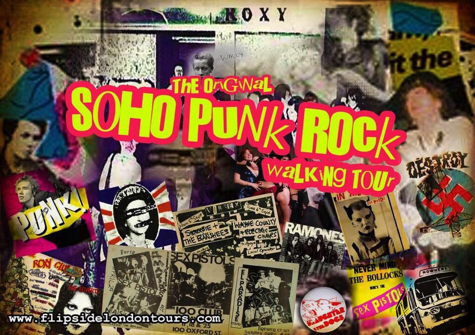 The next #punk #soho tour.  Friday, Jan 24th, 2.30pm, The Original Soho Punk Tour. Read our reviews at https://tripadvisor.co.uk/Attraction_Review-g186338-d6949350-Reviews-FlipsideLondon_Tours-London_England.html… book/get details at http://flipsidelondontours.compic.twitter.com/AwRj0uxhE0