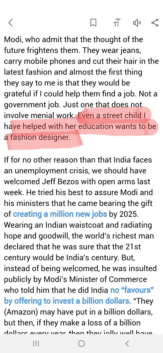 Tavleen Singh On Twitter It Means That Even A Girl Who Grew Up In Extreme Poverty Dreams New Dreams She Is No Longer Happy With Just A Menial Job Https T Co X3fsw3i3o5