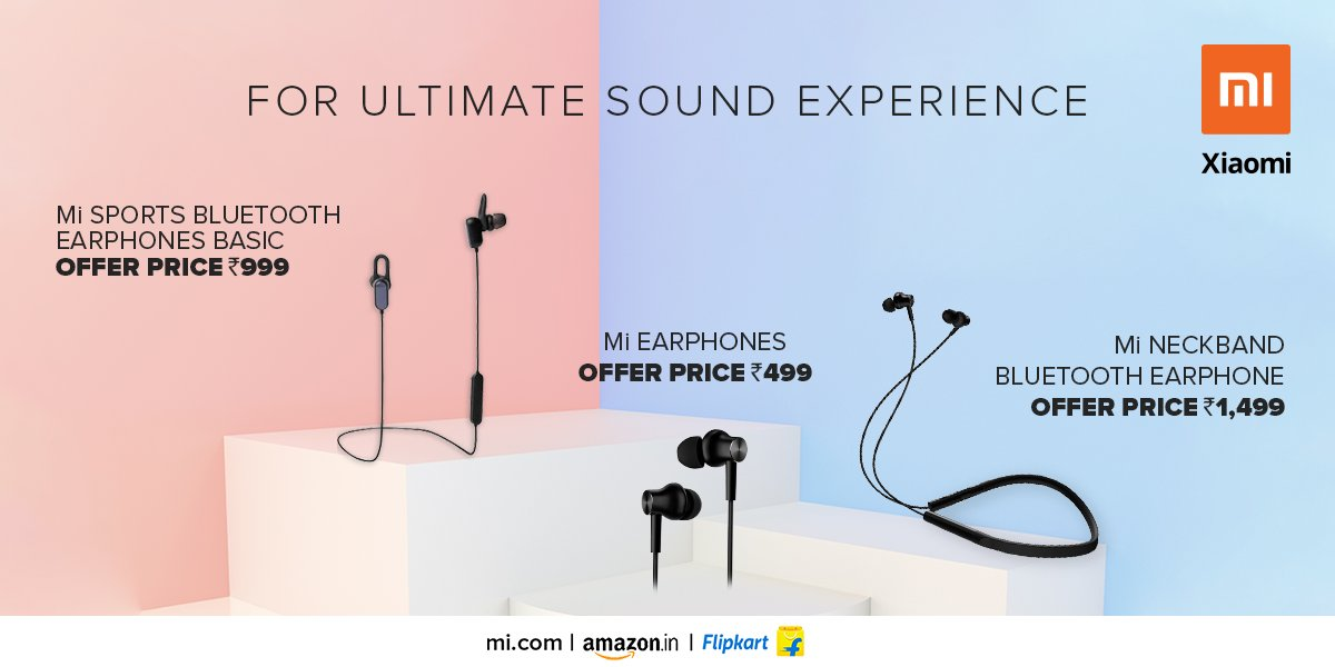 Mi India On Twitter Your Music The Way You Like Avail A Whole Lot Of Discount On An Entire Range Of Earphones Also Enjoy Exciting Bank Offers Discounts On Exchange Which